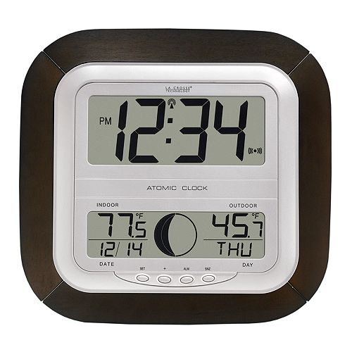 Home Décor La Crosse Technology Atomic, Best Atomic Wall Clock With Indoor Outdoor Temperature