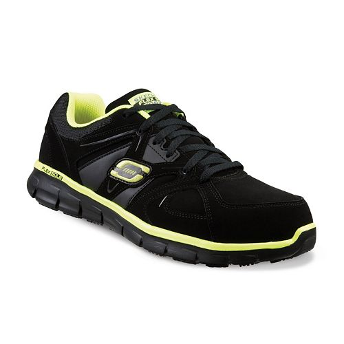 Skechers Work Relaxed Fit Synergy Ekron Men's Alloy Toe Shoes
