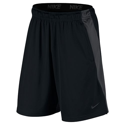 Men/'s Nike Big and Tall Dry Training Shorts Gray with Swoosh