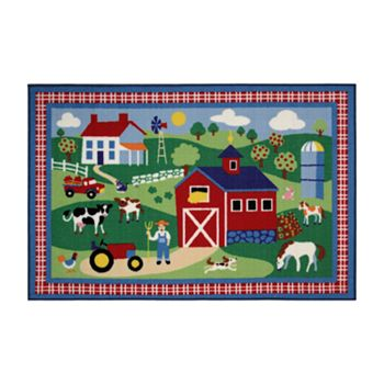 Fun Rugs Olive Kids Country Farm Rug
