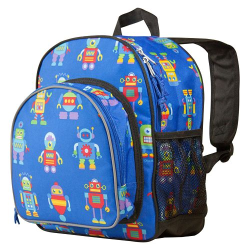Wildkin Olive Kids Robots Pack N Snack Backpack Kids